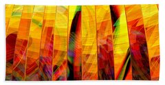 Beach Sheet featuring the digital art A Sunny Autumn Day  by Andreas Thust