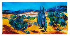 A Sunny Day In Provence Beach Towel