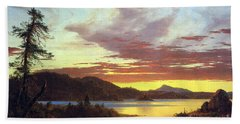 A Sunset By Frederick Edwin Church Beach Towel