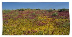 A Tapestry Of Desert Gold And Owl Clover Beach Sheet by Susan Rovira