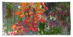 Beach Sheet featuring the digital art A Touch Of Autumn by Mariarosa Rockefeller