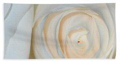 A Touch Of Peach Beach Towel by Sami Martin