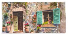 A Townhouse In Majorca Spain Beach Towel