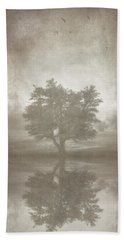 A Tree In The Fog 3 Beach Towel
