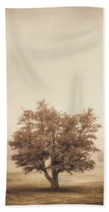 A Tree In The Fog Beach Towel