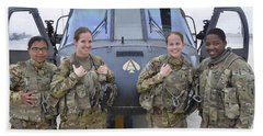 A U.s. Army All Female Crew Beach Towel by Stocktrek Images