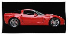 A Very Red Corvette Z6 Beach Sheet