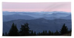 A View From Timberline Beach Towel