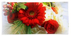 A Vision In Red Beach Towel by Dora Sofia Caputo Photographic Art and Design