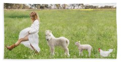 A Walk In The Country Beach Towel by Linda Lees