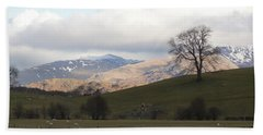 Beach Towel featuring the photograph A Walk In The Countryside In Lake District England by Tiffany Erdman