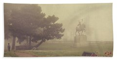 A Walk In The Fog Beach Towel