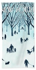 A Walk In The Snow Beach Towel