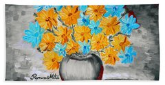 A Whole Bunch Of Daisies Selective Color II Beach Sheet by Ramona Matei