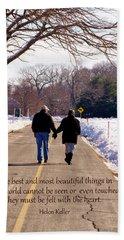 A Winter Walk/inspirational Beach Sheet