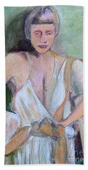 A Woman In Love Beach Towel