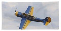 A Yakolev Yak-52 Plane Flying Beach Sheet by Timm Ziegenthaler