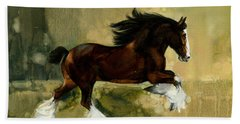Clydesdale Stallion Beach Towel