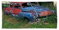 Abandoned 1950 Mercury Monteray Buick Beach Towel