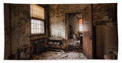 Beach Towel featuring the photograph Abandoned Asylum - Haunting Images - What Once Was by Gary Heller