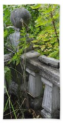 Beach Towel featuring the photograph Abandoned Cemetery by Cathy Mahnke