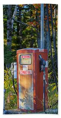 Beach Towel featuring the photograph Abandoned Gas Pump by Alana Ranney