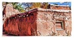 Beach Sheet featuring the painting Abandoned by Muhie Kanawati