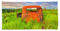 Abandoned Rusting Truck Beach Sheet