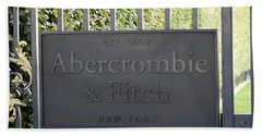 Abercrombie And Fitch Store In Paris France Beach Sheet