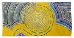 Beach Sheet featuring the painting Aboriginal Inspirations 35 by Mariusz Czajkowski