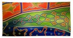 Original Sold Aboriginal Inspirations 7 Beach Sheet