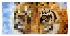 About 400 Sumatran Tigers Acrylic On Paper Beach Towel