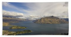 Above Queenstown #2 Beach Sheet by Stuart Litoff