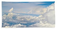 Above The Clouds Over Texas Image B Beach Towel