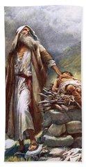 Abraham And Isaac Beach Towel