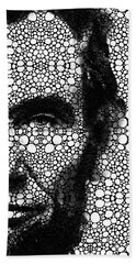 Abraham Lincoln - An American President Stone Rock'd Art Print Beach Towel