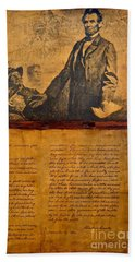 Abraham Lincoln The Gettysburg Address Beach Sheet