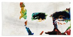 Abraham Lincoln Art - Colorful Abe - By Sharon Cummings Beach Towel by Sharon Cummings