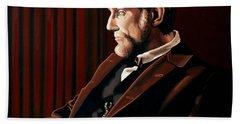 Abraham Lincoln By Daniel Day-lewis Beach Towel