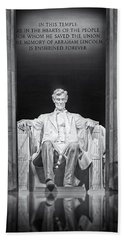 Abraham Lincoln Memorial Beach Towel