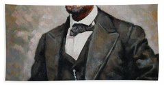 Abraham Lincoln Beach Towel by Ylli Haruni