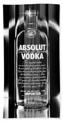 Absolut Black And White Beach Towel