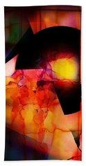 Abstract 012615 Beach Towel by David Lane