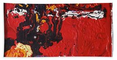Abstract 13 - Dragons Beach Towel by Mario Perron