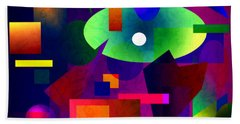 Abstract 74 Beach Towel by Timothy Bulone