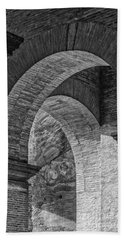 Abstract Arches Colosseum Mono Beach Towel by Antony McAulay