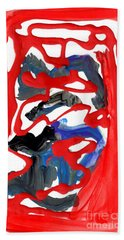 Abstract Blood Cover Up Beach Towel