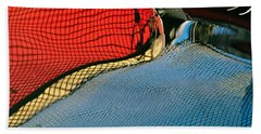 Beach Towel featuring the photograph Abstract Catamaran Hull by Jani Freimann