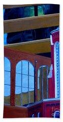 Abstract City Downtown Shreveport Louisiana Urban Buildings And Church Beach Sheet
