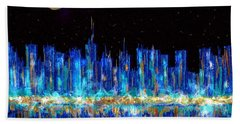 Abstract City Skyline Beach Towel